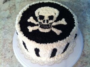 skull cake 1